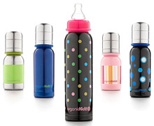 Eco-friendly, stainless steel baby bottles