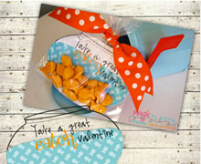 Personalized Goldfish Valentines